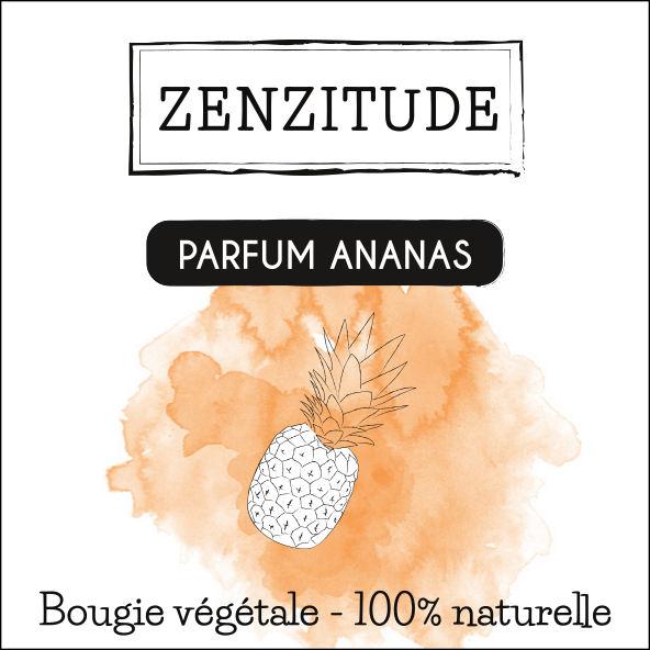 étiquette bougie ananas