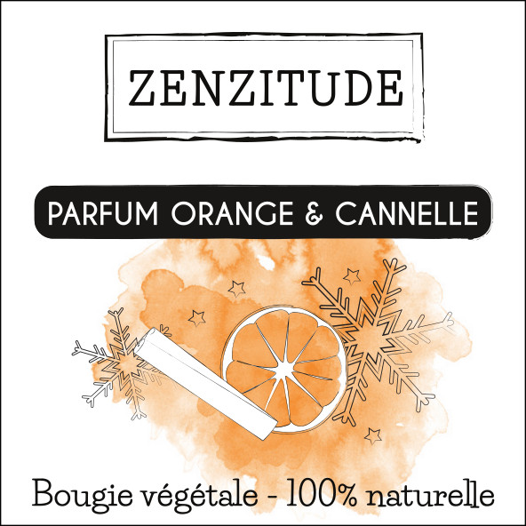 étiquette bougie orange cannelle