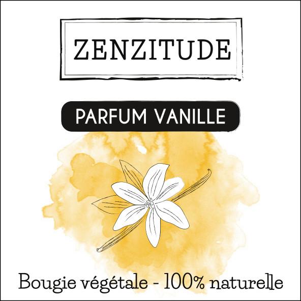 étiquette bougie vanille